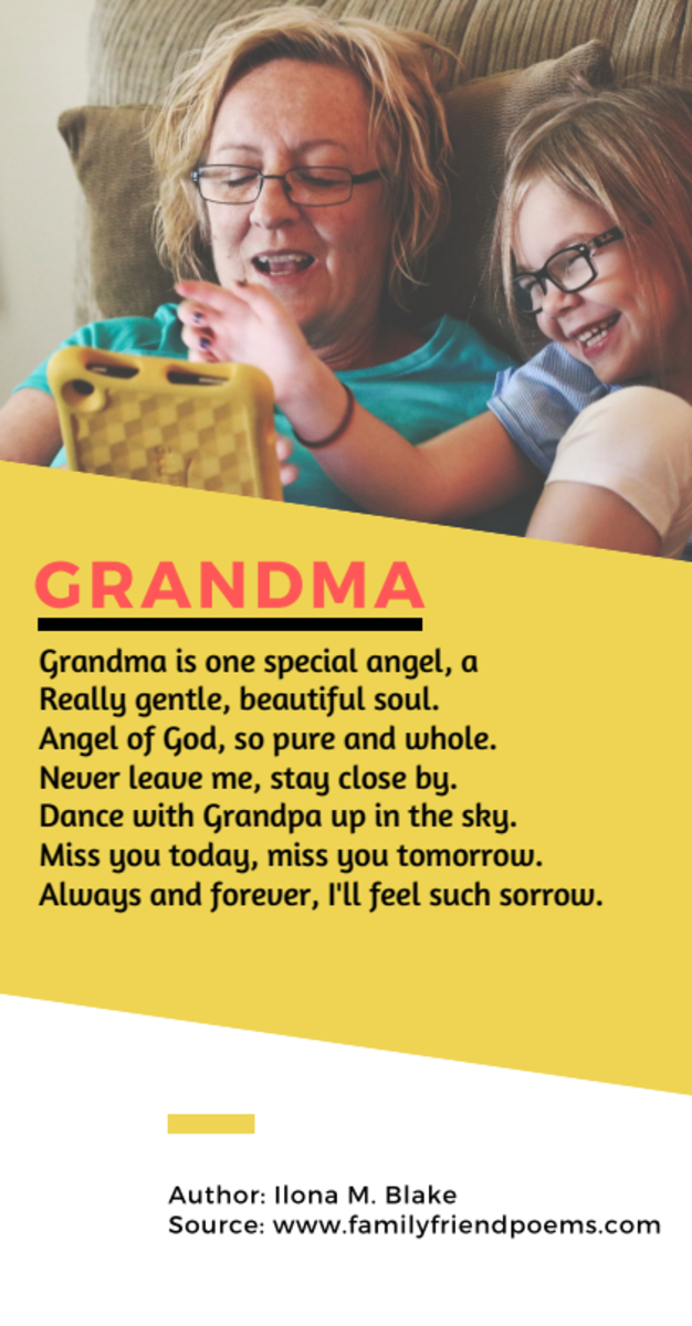 Acrostic Poem about Grandma