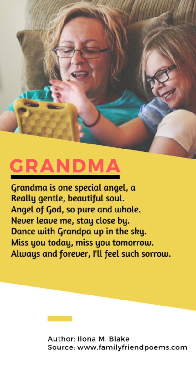 Acrostic Poem about Grandma