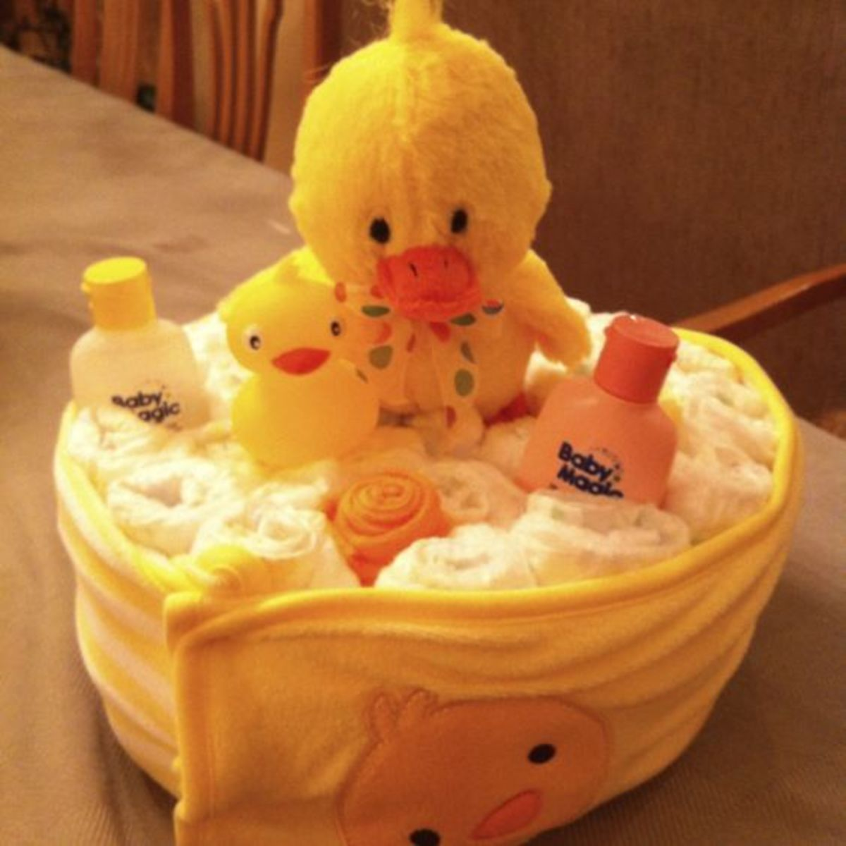 Duck Themed Diaper cake
