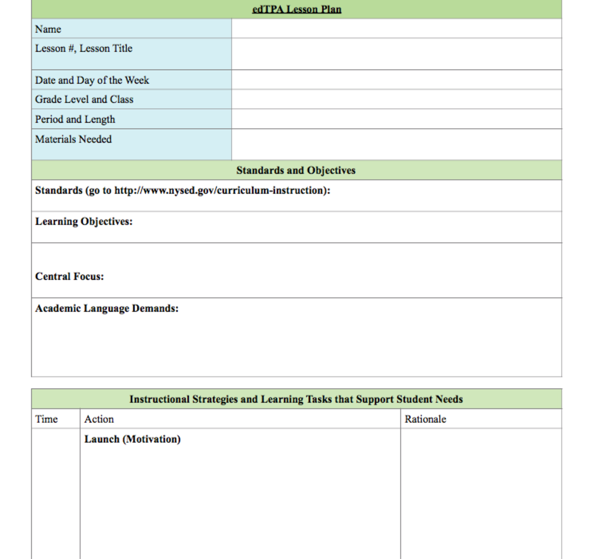 Creating The Perfect Lesson Plan