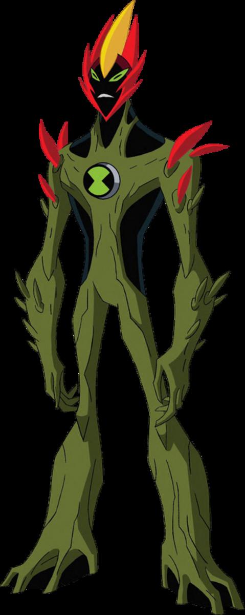 Swampfire's original appearance in Ben 10: Alien Force and Ben 10: Ultimate Alien.