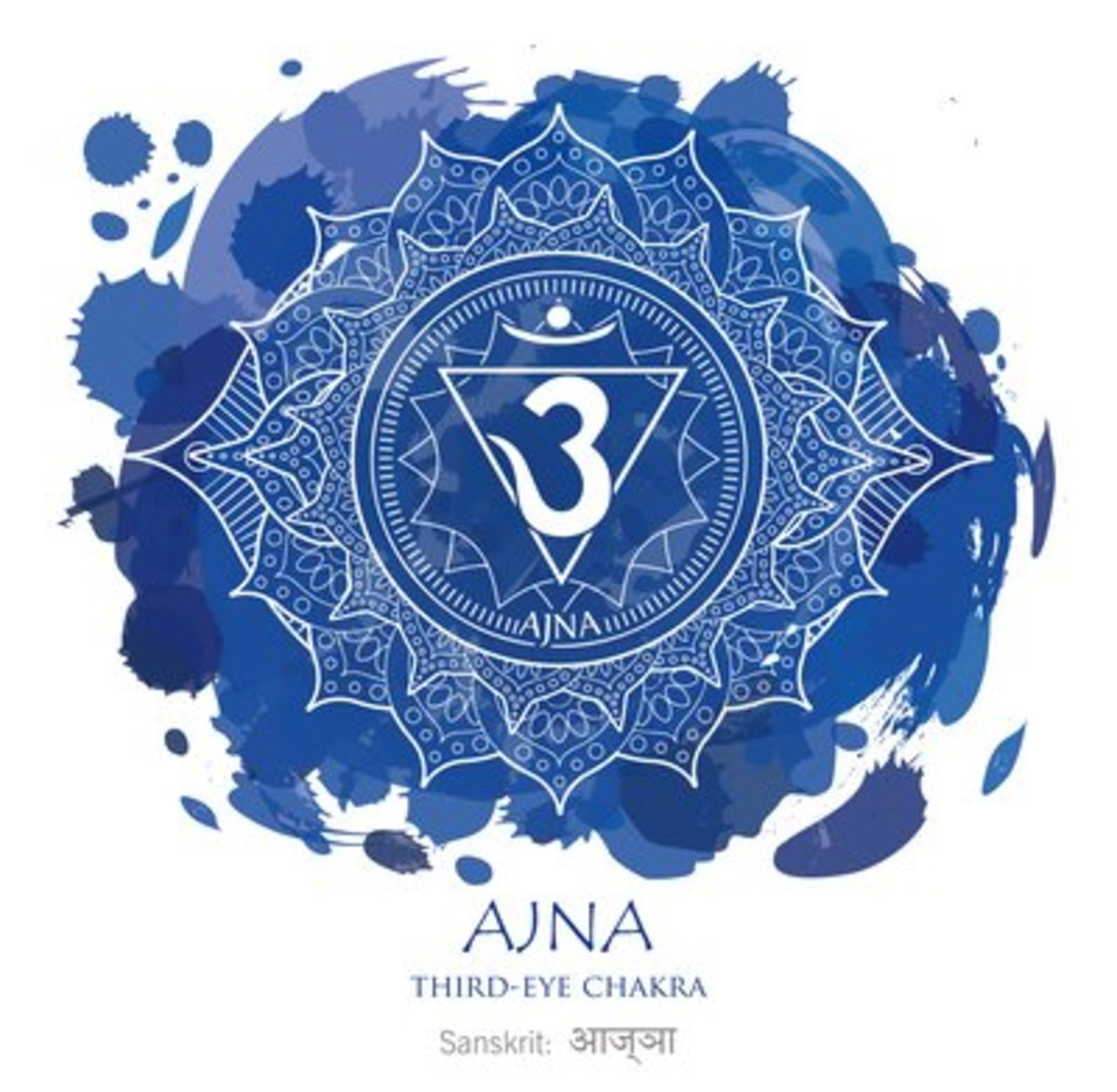 The sixth eye or third eye chakra is associated with the color indigo and is located at the brow.