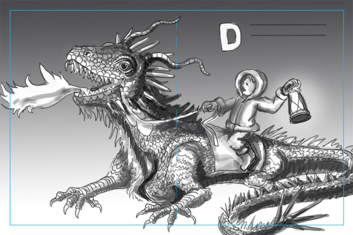 Value Sketch for the illustration.