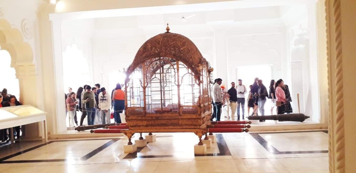 The Royal Golden Palki or the palanquin