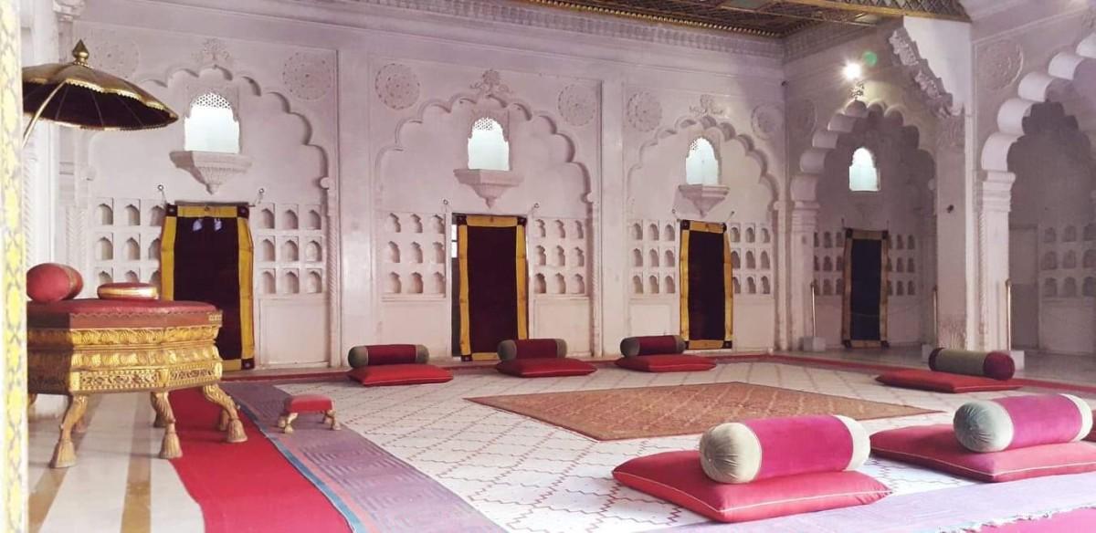 The Queen's Darbaar or the court room.