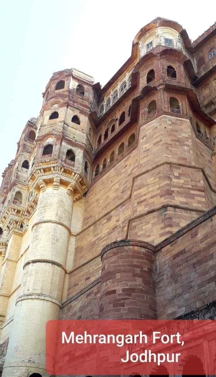 The Mehrangarh Fort, Jodhpur, Rajasthan, India—This is just a small portion of the enormous, majestic Fort