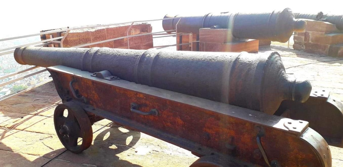 The row of Cannons at the Fort terrace, keeping a vigil and ready to protect from unwanted intruders.