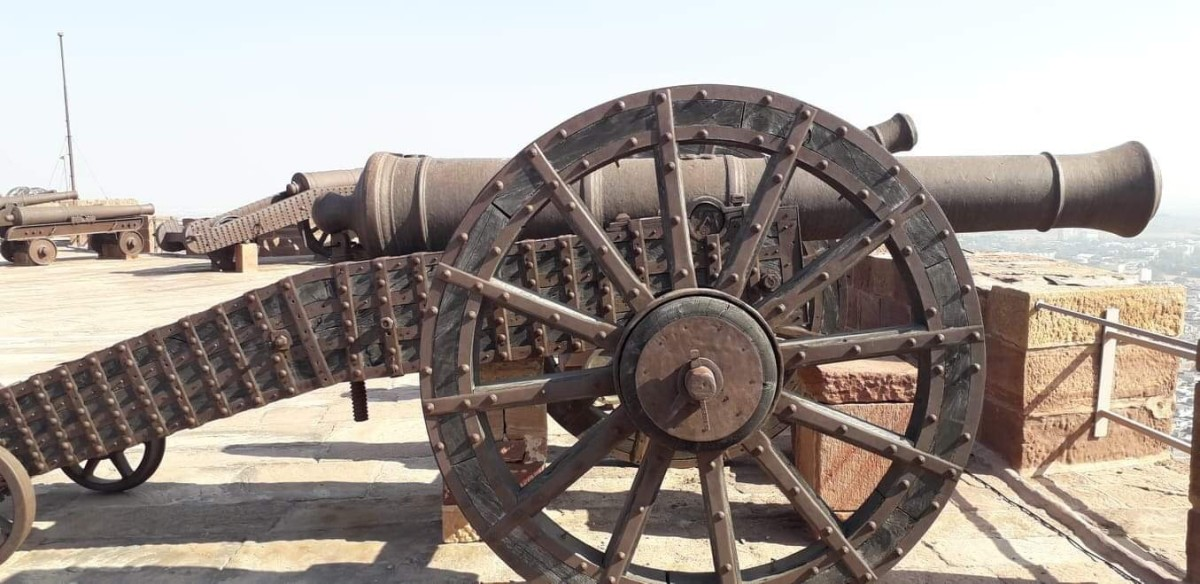 At the Fort terrace, the mighty looking Cannon.