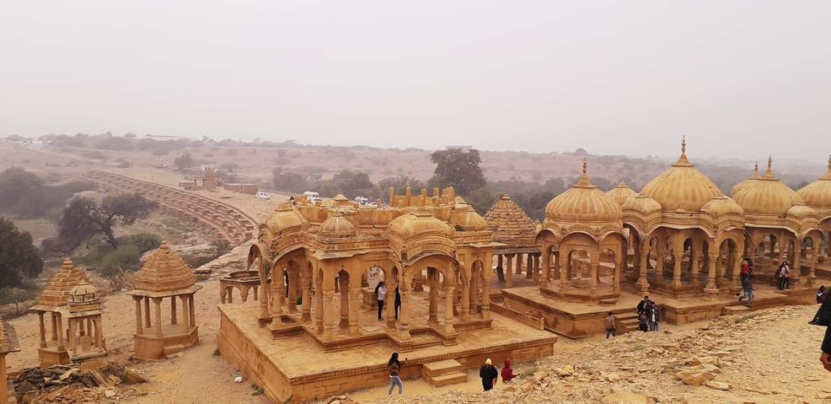 The Badabagh, built with yellow sandstone