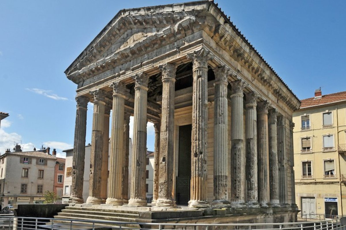 Ancient Roman temple of Agustus