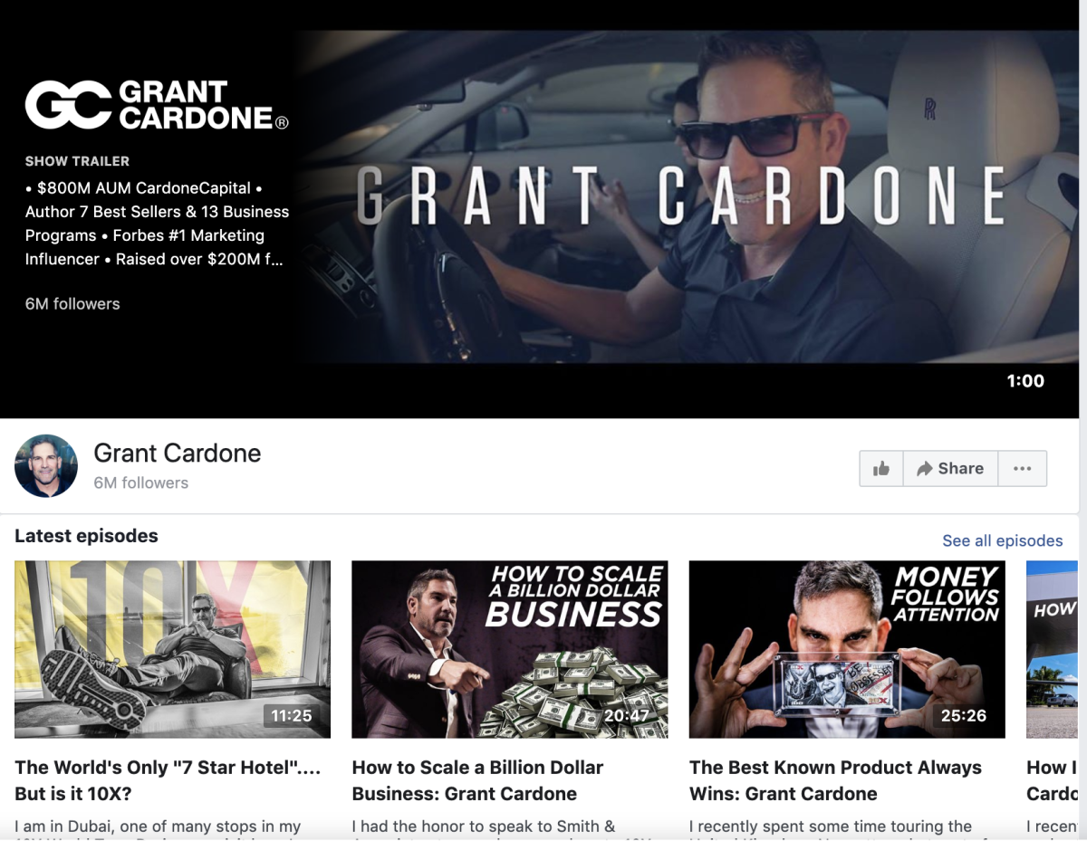 Grant Cardone on Facebook