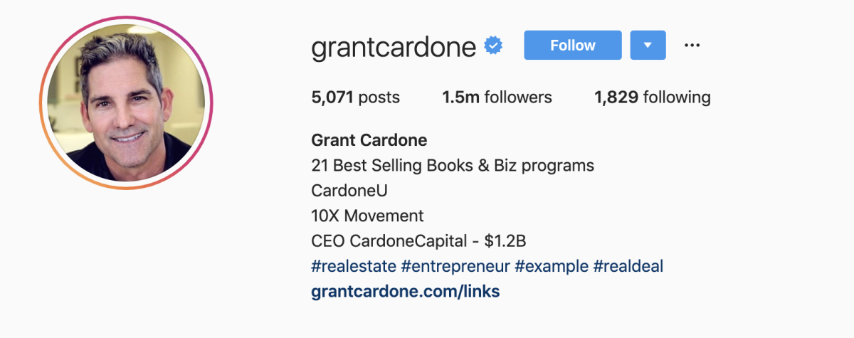 Grant Cardone on Instagram