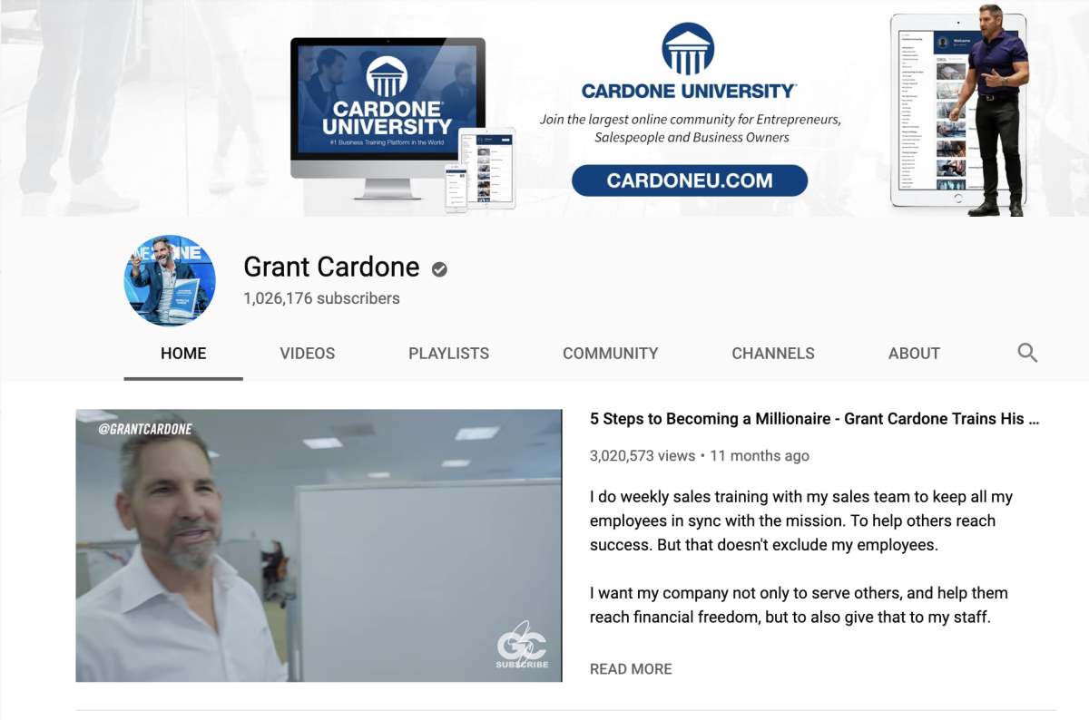Grant Cardone on YouTube