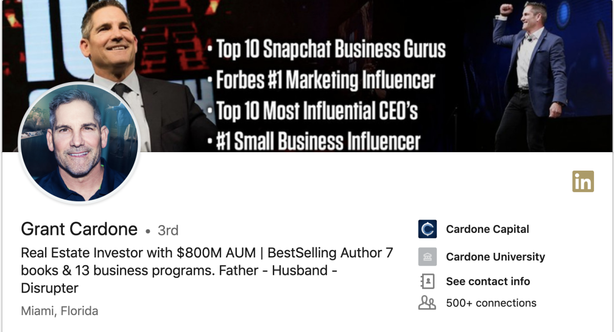 Grant Cardone on LinkedIn