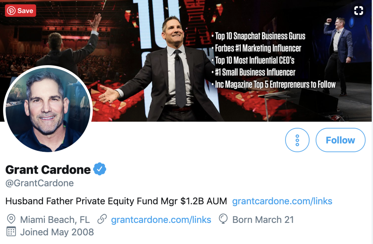 Grant Cardone on Twitter