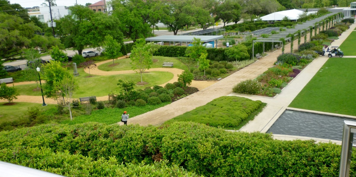Looking down from the Garden Mound