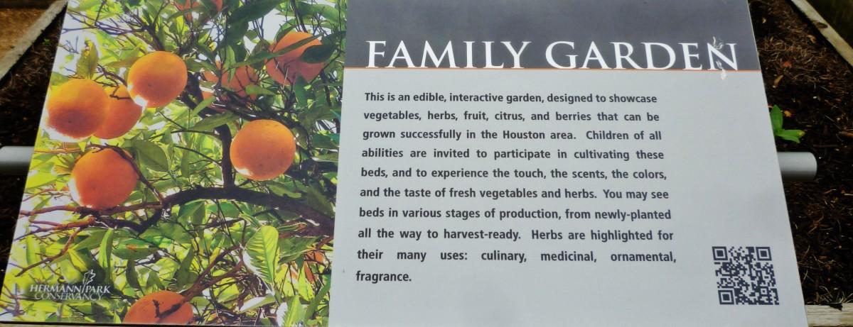 Family Garden Sign