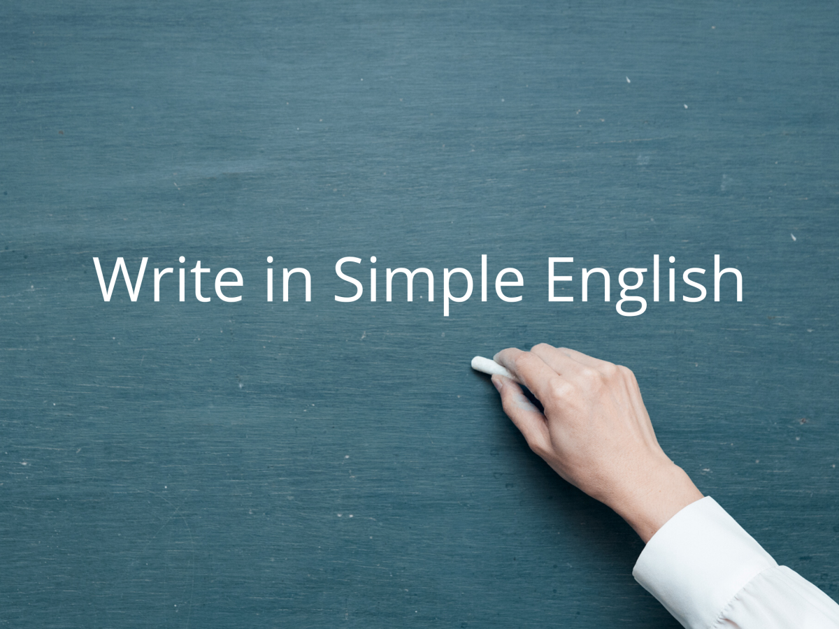 Pic 1: Write in Simple English