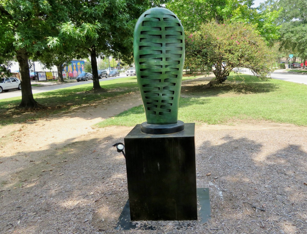 """Green Ribs by Susan Budge on the """"Obstacle Art Path"""""""