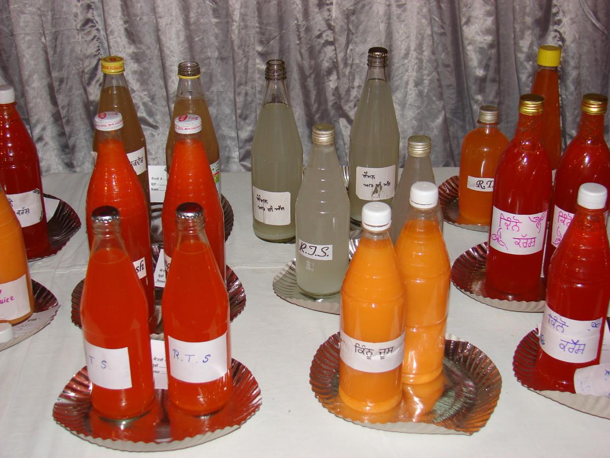 Kinnow products like kinnow juice, kinnow crush, kinnow squash