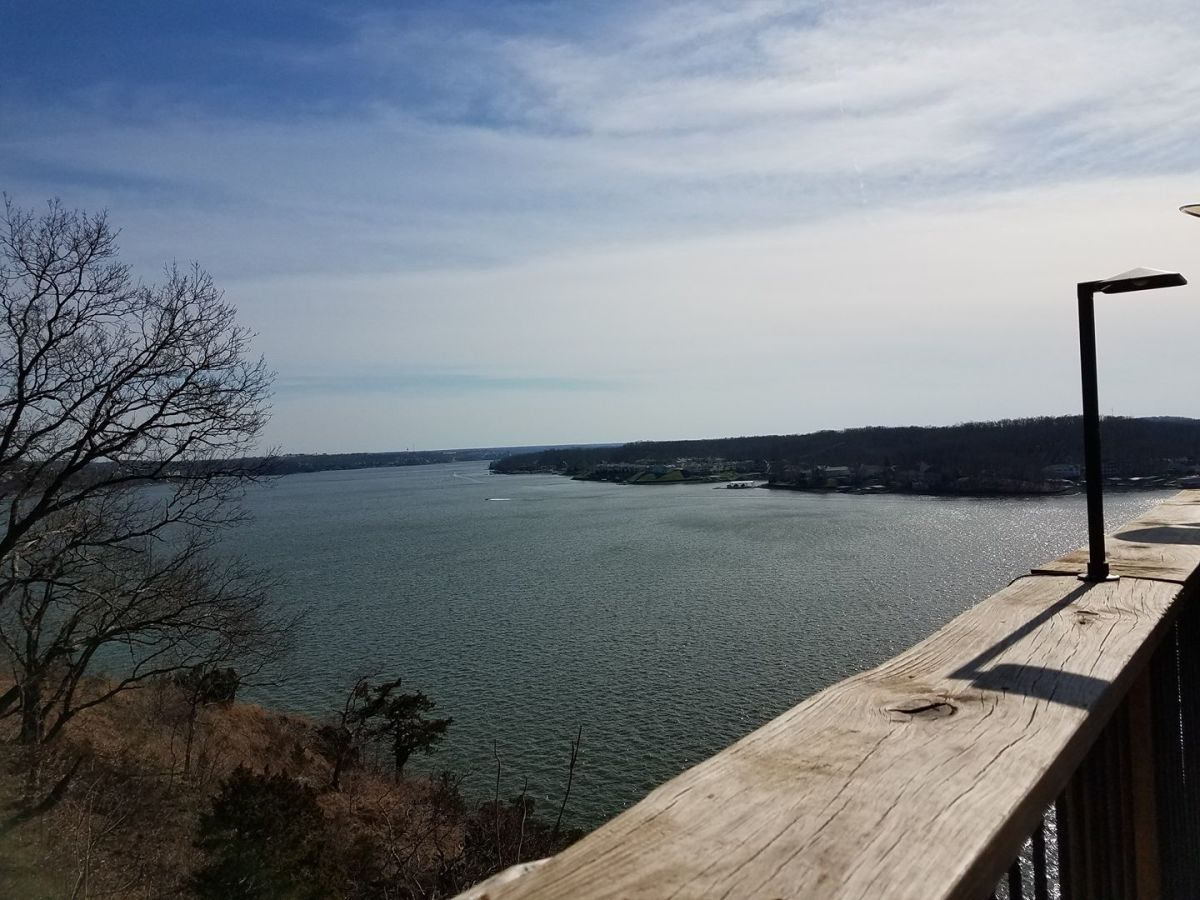 Another view from the platform deck at Shawnee Bluff Winery.