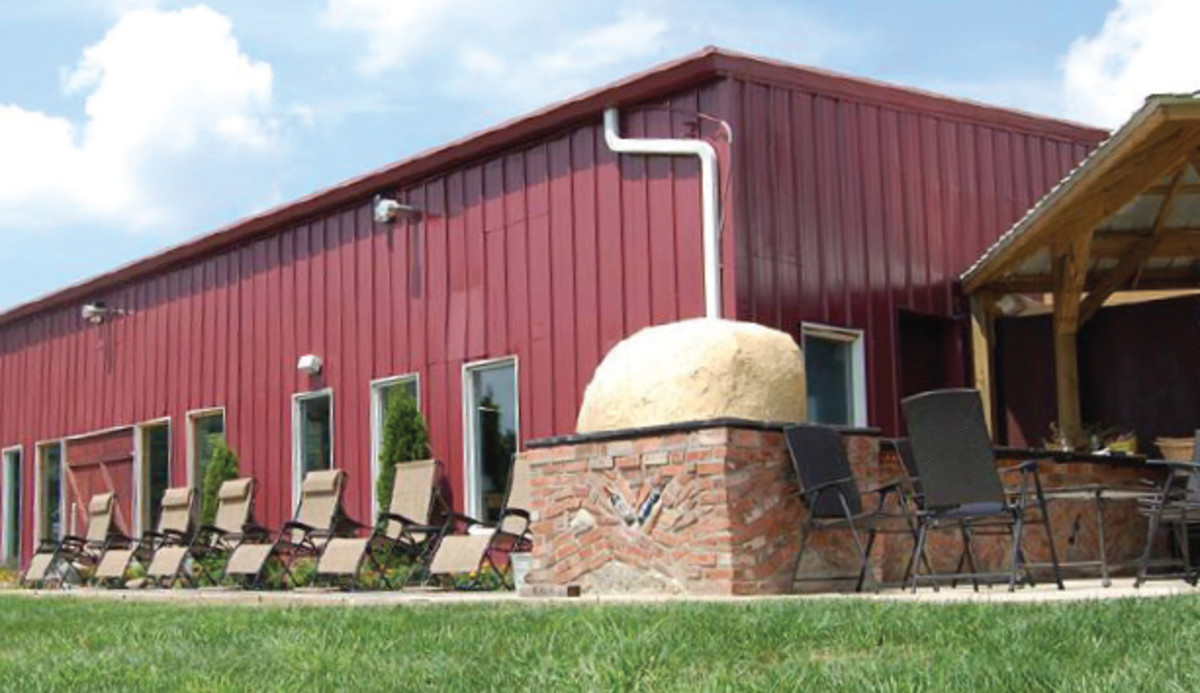 The tasting and event barn at Shawnee Vineyard near Eldon, Mo. in Lake of the Ozarks.