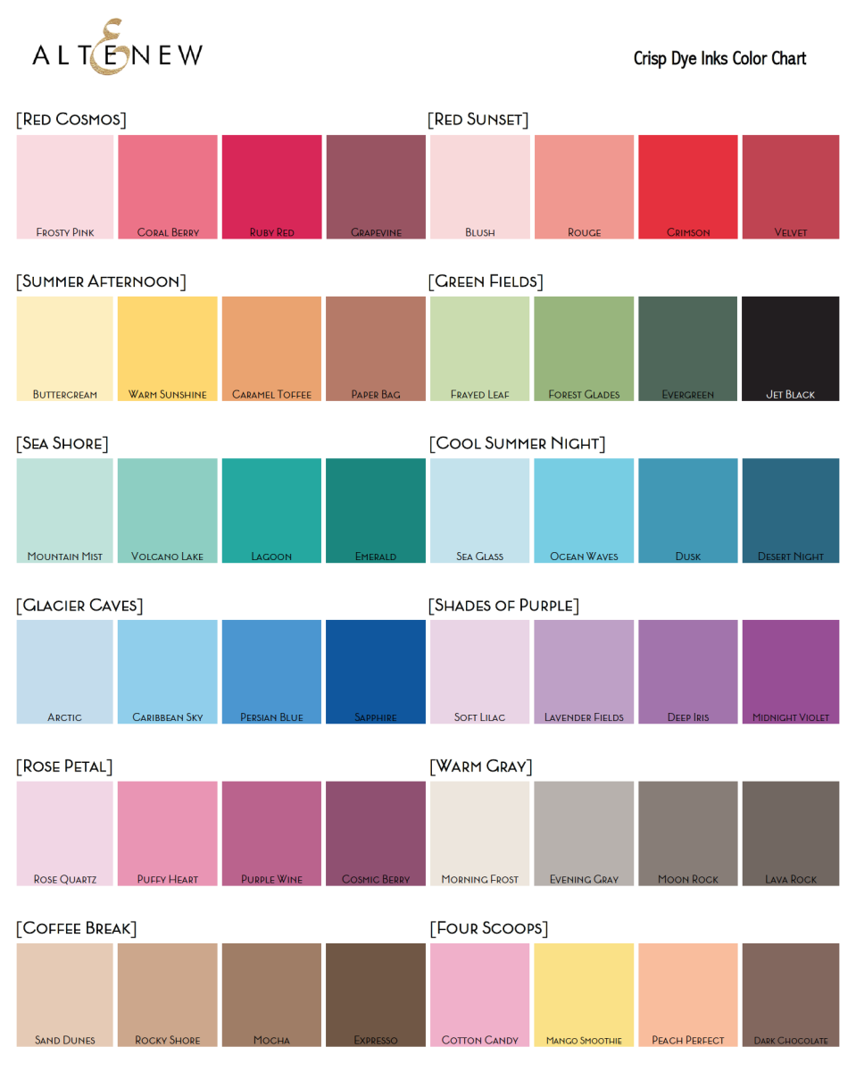 Most ink companies will provide you with a color sheet and a blank template that you can use to fill in your inks. Keep both in your ink swatch book. Makes shopping and using so easy