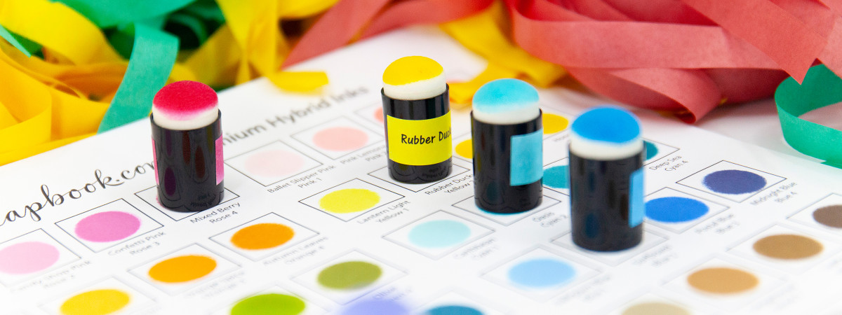 Ink daubers are another way you can make your ink swatches. The daubers cab=n be labeled , stored and used agian