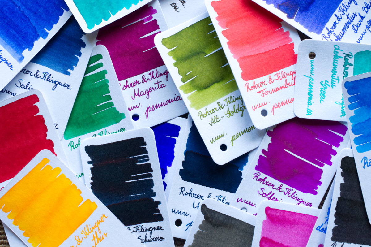 Ink swatches are an essential part of your craft room organization