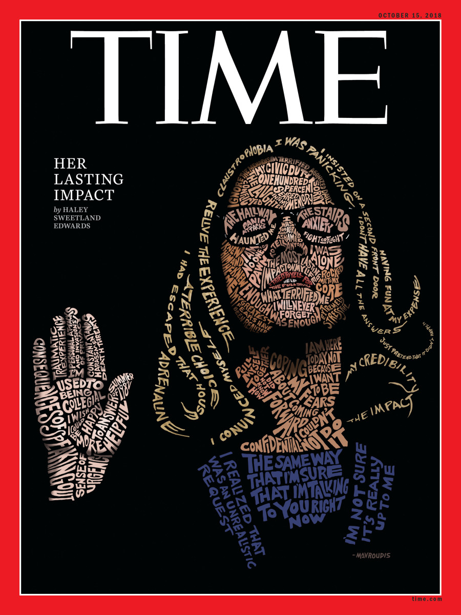 Time Magazine's cover depicting Christine Blasey Ford, named Cover of the Year