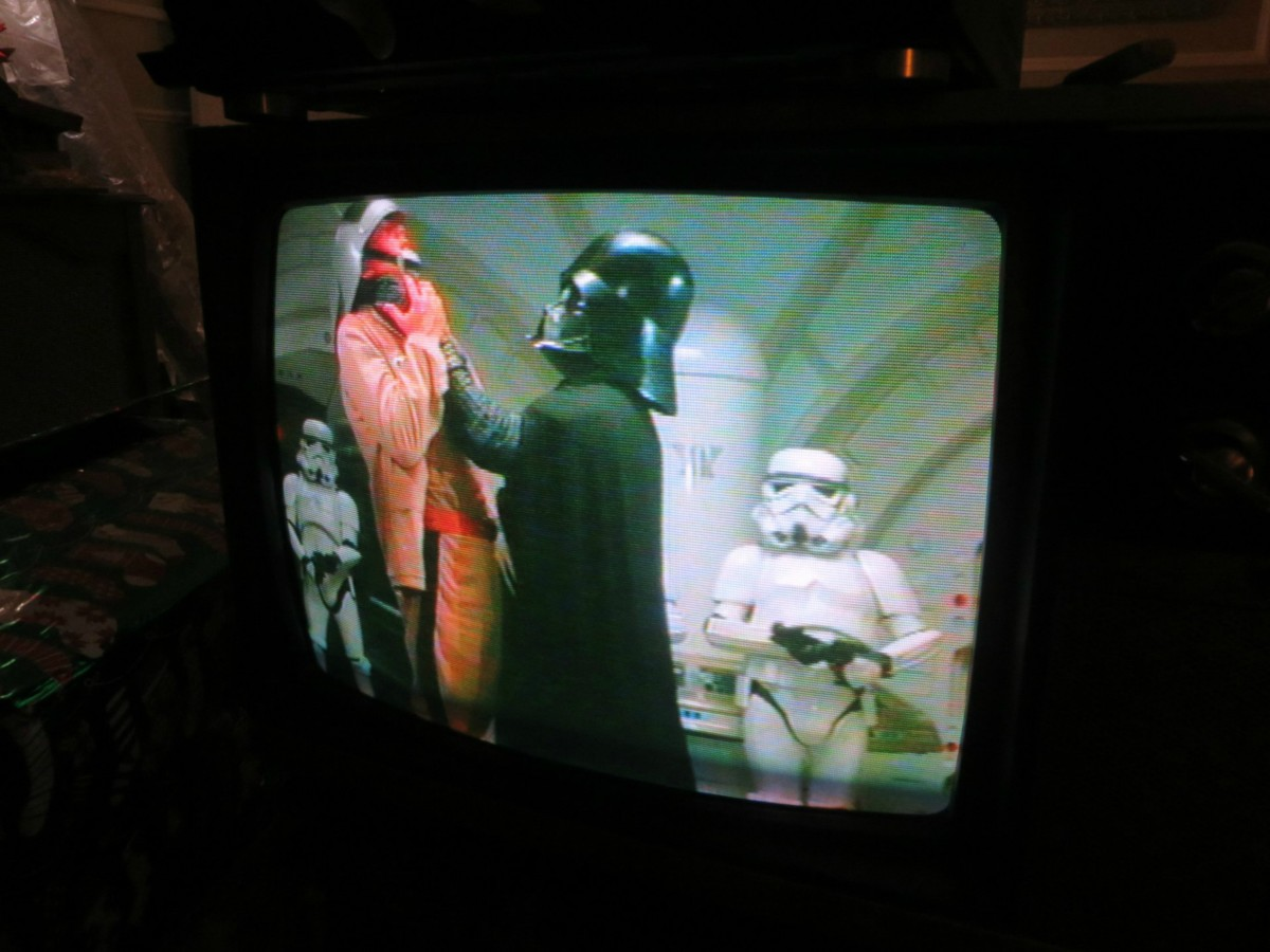 In the world of today, Darth Vader would Choke Someone who Messed with his Quasar Television. Just look at the amazing color and you should hear the sound.