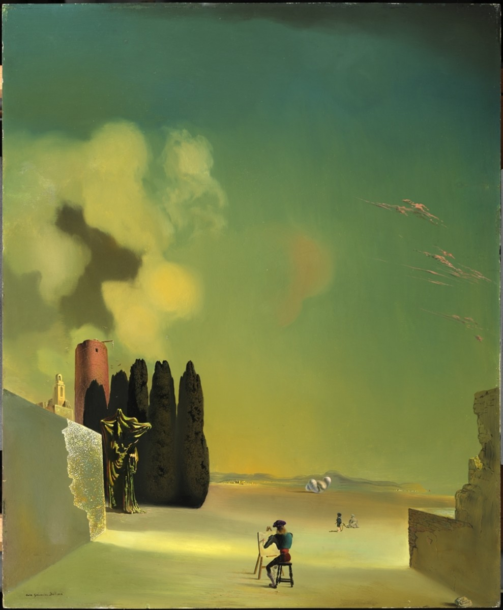 Salvador Dali- Enigmatic Elements in a Landscape