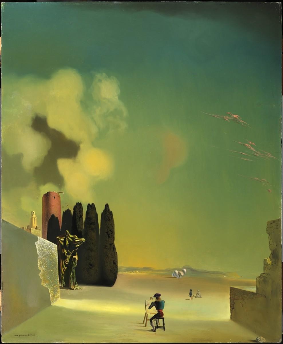 Salvador Dali- Enigmatic Elements in a Landscape