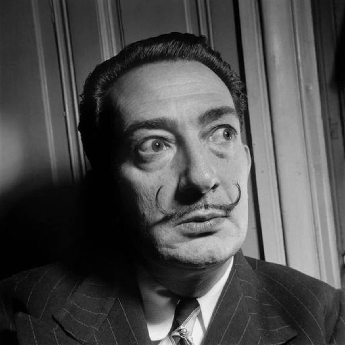 Photo taken in the 50s shows Spanish artist Salvador Dali.