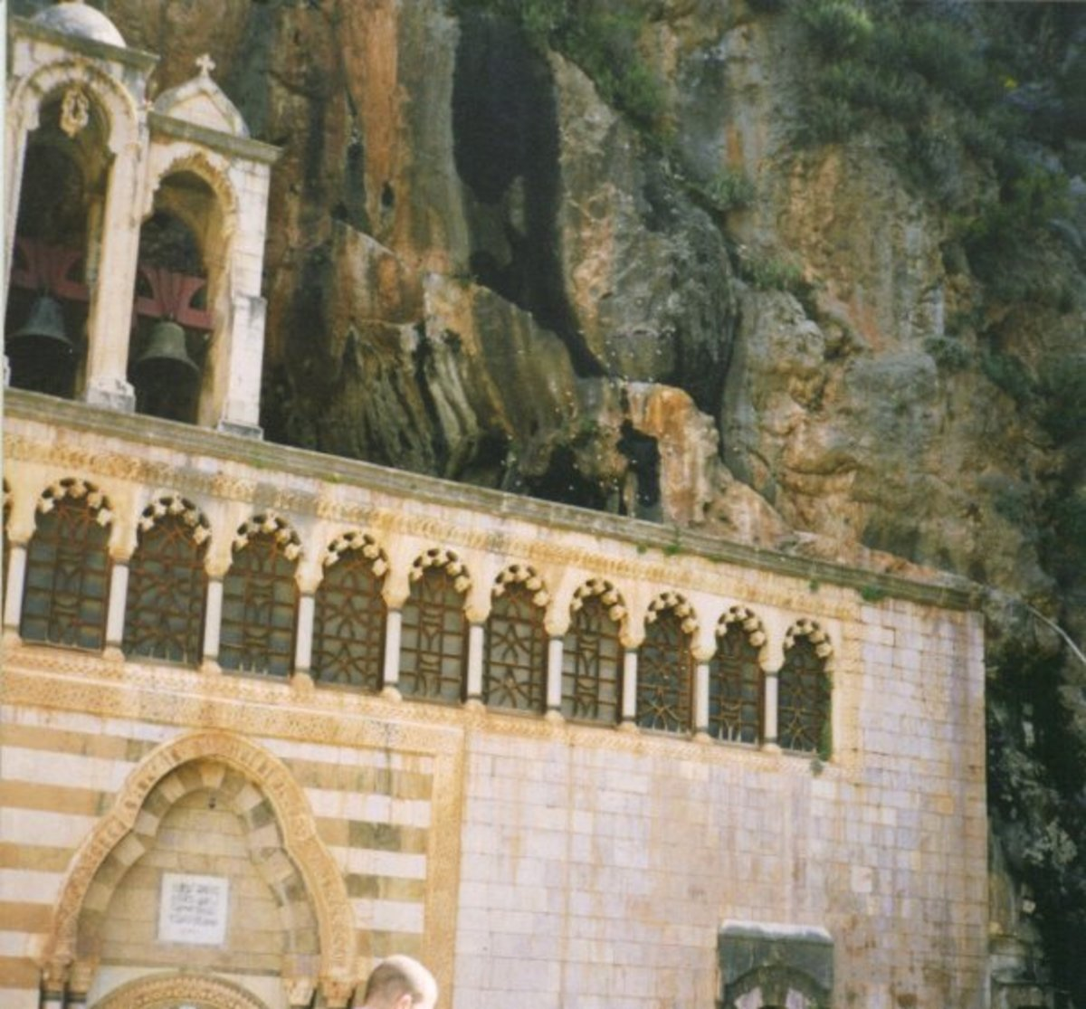 Church Built into a Rock, Deir Qannoubine, North of Lebanon. I took this picture in the early 1990s.