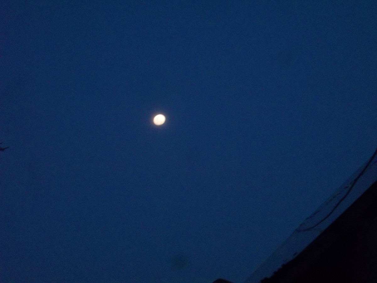 Waxing full moon sighted in the morning