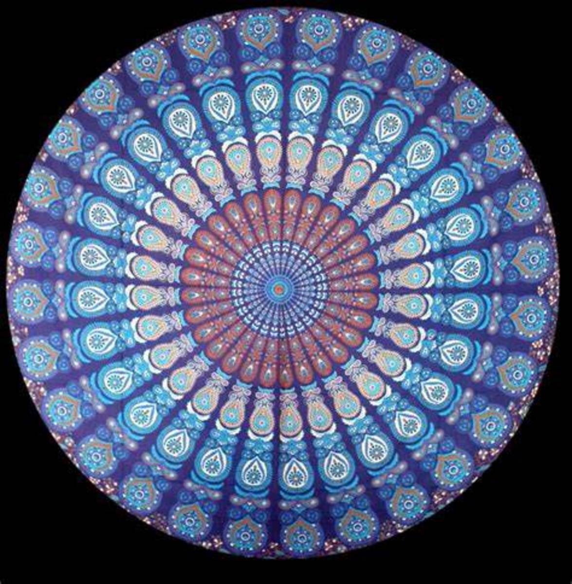 There are endless designs that can be created in the mandala design