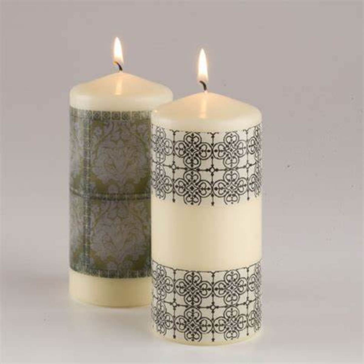 Water slide paper can be used to decorate custom candles