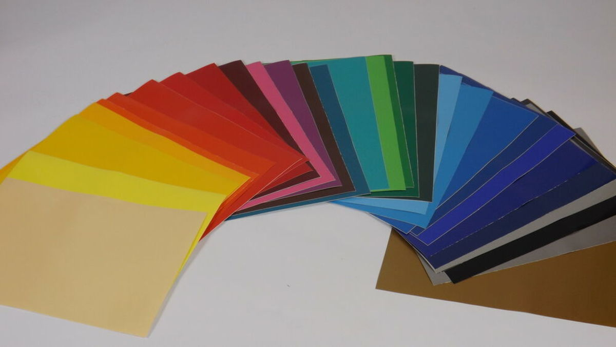Craft vinyl comes in a multitudes of colors