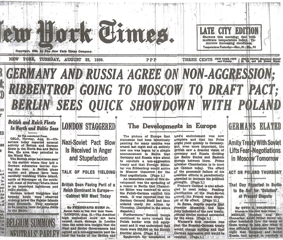 The Buildup to the Russian Invasion in 1941:the Nazi- Russia Non-Aggression Pact