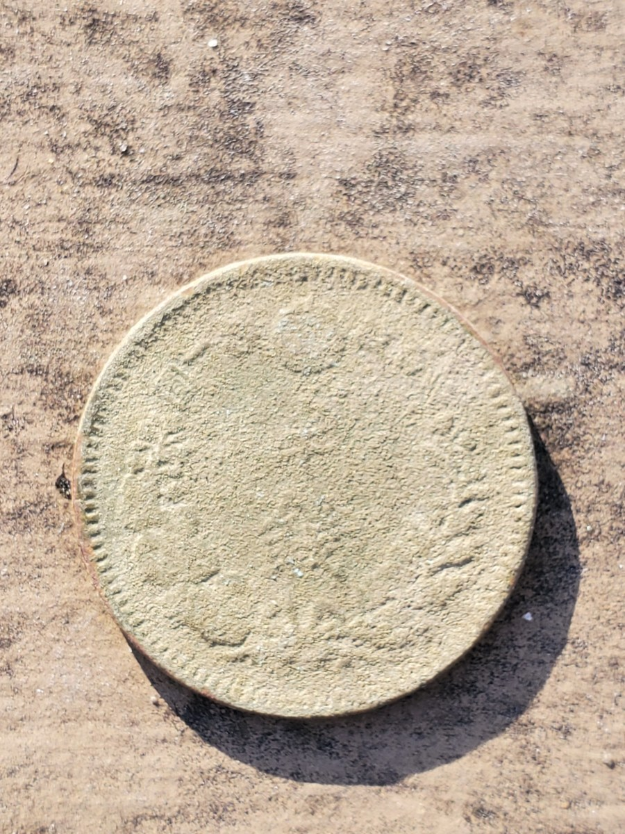 1/2 Sen Japanese copper coin.