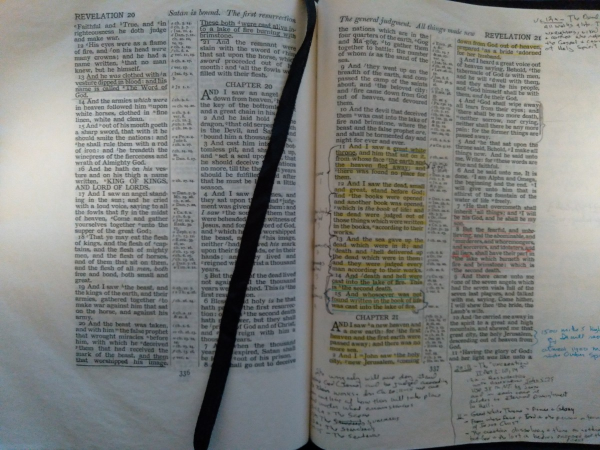The Book of Revelation: The Scene at the Great White Thone of Judgement.
