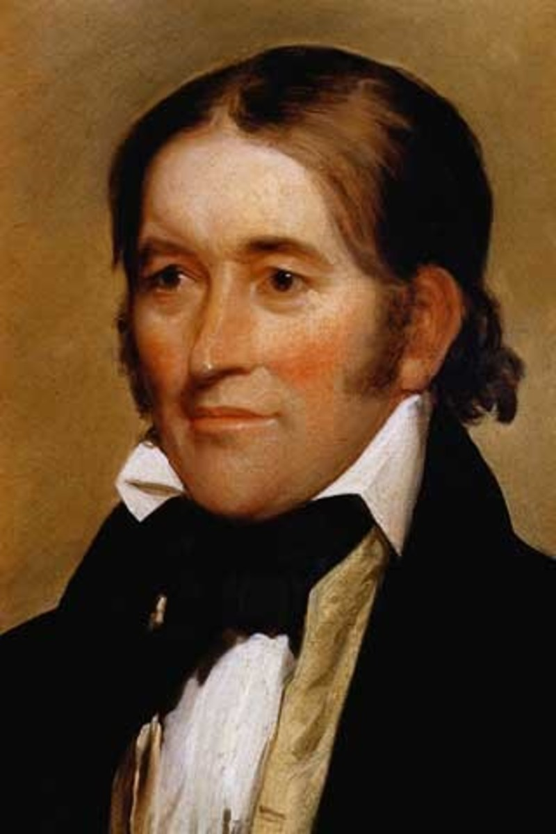 David Crockett                                        Portrait by Chester Harding, 1834, two years before the Crockett's death at the Alamo.