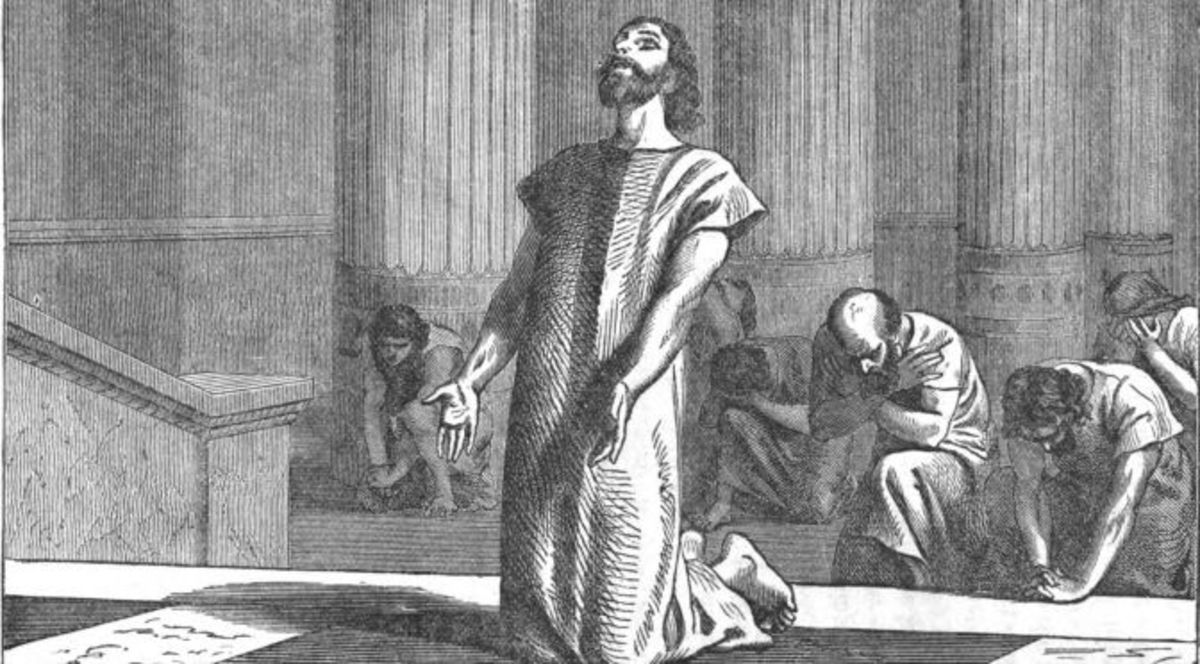 King Hezekiah crying out to God for deliverance.