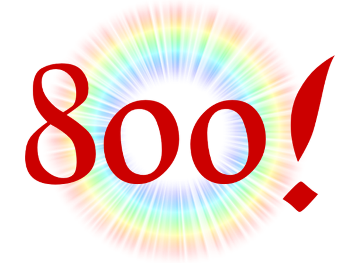 HubPages Milestone 800 Hubs