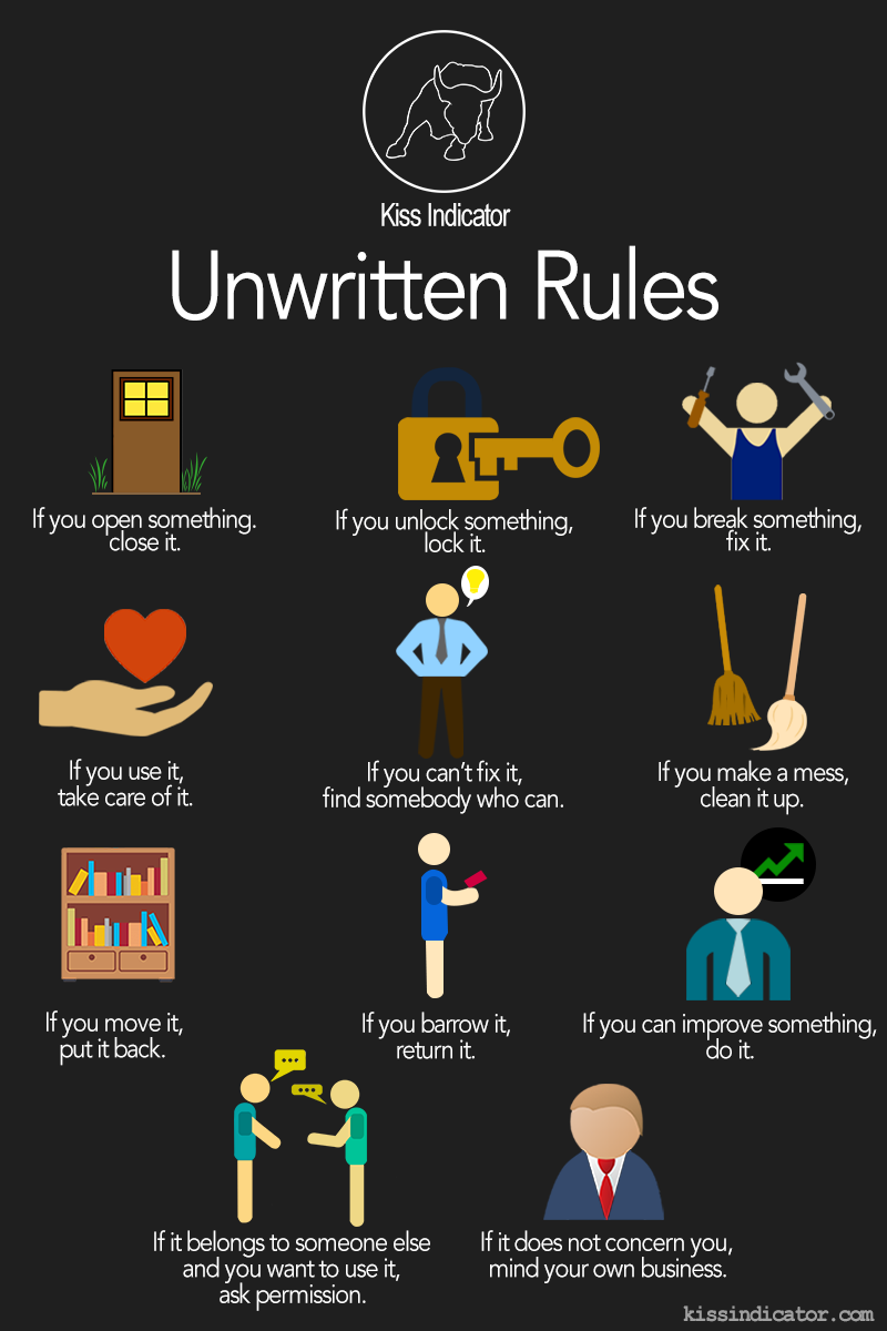 do-you-have-unwritten-rules-for-your-everyday-life