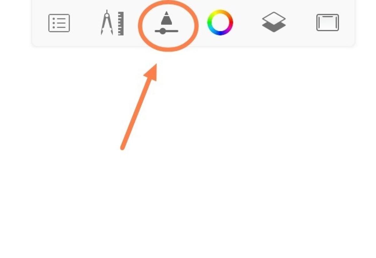 Pencil tip like icon.