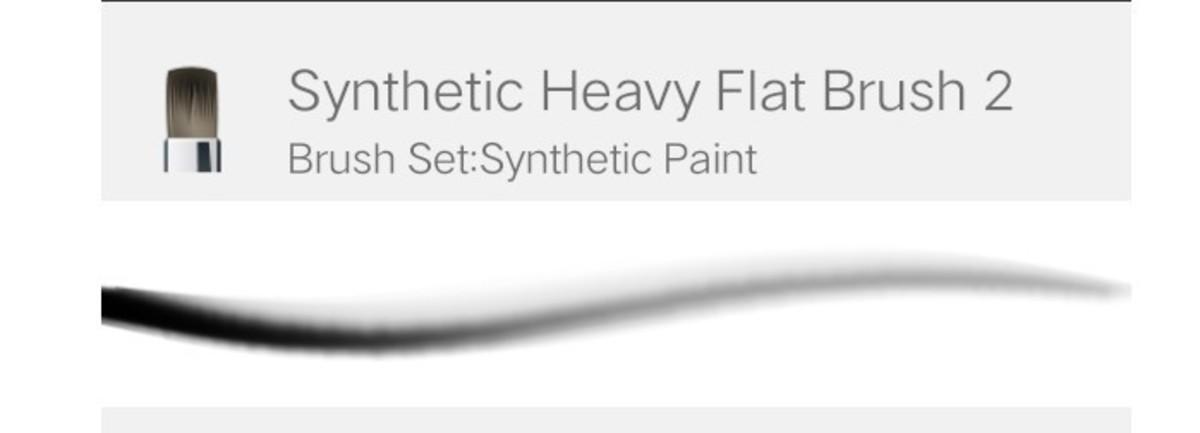 Heavy flat brush