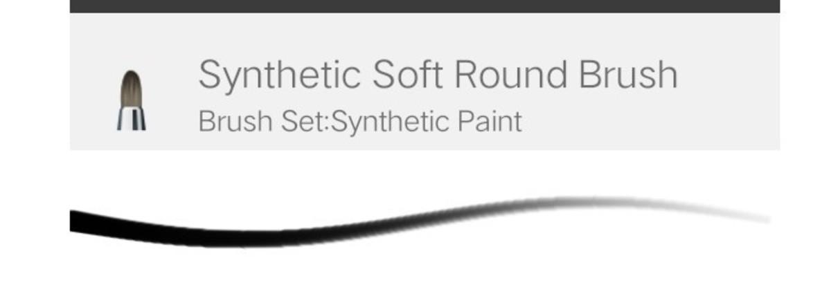 Soft round brush