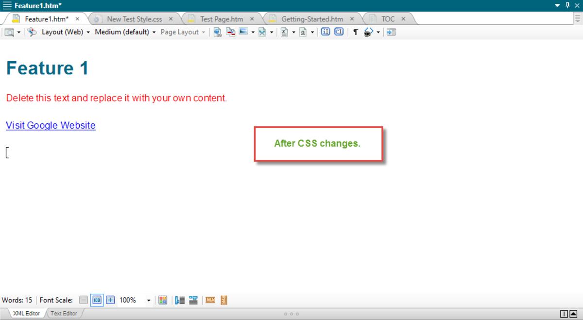 After External CSS Changes